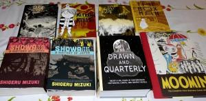 Muutamia Drawn & Quarterlyn tuotteita omasta kirjahyllystäni.